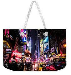 New York City Night Weekender Tote Bag by Nicklas Gustafsson