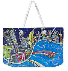 New York City Nights Weekender Tote Bag by Jason Gluskin