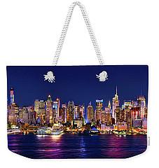 New York City Nyc Midtown Manhattan At Night Weekender Tote Bag