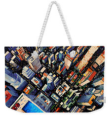 New York City Sky View Weekender Tote Bag by Mona Edulesco