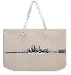 New York City Skyline 15x45 2013 Weekender Tote Bag