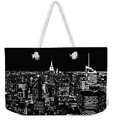 New York City Skyline At Night Weekender Tote Bag