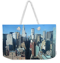 Weekender Tote Bag featuring the photograph New York City Skyline by Dora Sofia Caputo Photographic Art and Design