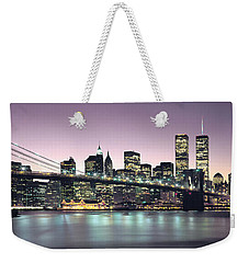 New York City Skyline Weekender Tote Bag by Jon Neidert