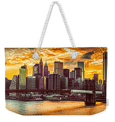 New York City Summer Panorama Weekender Tote Bag
