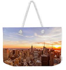 New York City - Sunset Skyline Weekender Tote Bag