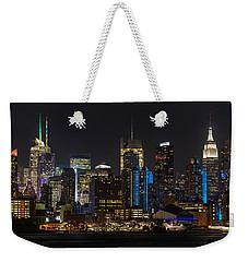 New York In Blue Weekender Tote Bag by Mike Reid