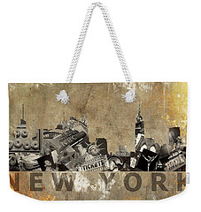 New York City Grunge Weekender Tote Bag by Suzanne Powers