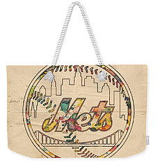 New York Mets Poster Vintage Weekender Tote Bag