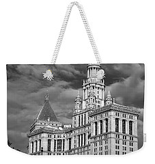 New York Municipal Building - Black And White Weekender Tote Bag