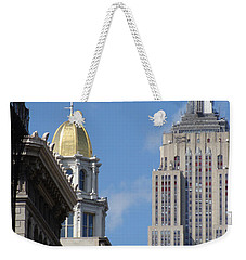 Weekender Tote Bag featuring the photograph New York New York by Ira Shander