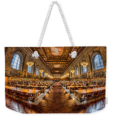 New York Public Library Main Reading Room Vii Weekender Tote Bag by Clarence Holmes