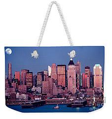 New York Skyline At Dusk Weekender Tote Bag