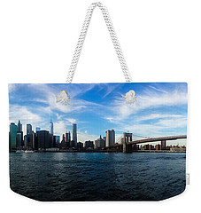 New York Skyline - Color Weekender Tote Bag by Nicklas Gustafsson