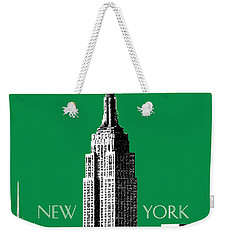New York Skyline Empire State Building - Forest Green Weekender Tote Bag