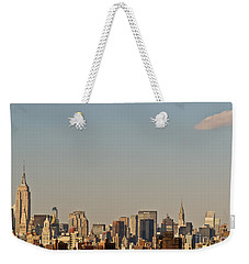 New York Skyline Weekender Tote Bag by Kerri Farley