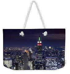 New York Skyline Night Color Weekender Tote Bag