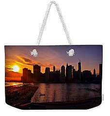 New York Skyline Sunset -- From Brooklyn Heights Promenade Weekender Tote Bag