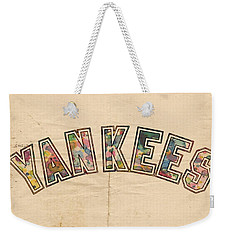 New York Yankees Poster Art Weekender Tote Bag by Florian Rodarte