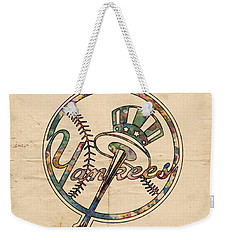 New York Yankees Poster Vintage Weekender Tote Bag by Florian Rodarte