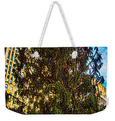 Weekender Tote Bag featuring the photograph New York's Holiday Tree by Chris Lord