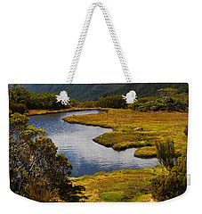 Weekender Tote Bag featuring the photograph New Zealand Alpine Landscape by Cascade Colors