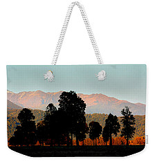 Weekender Tote Bag featuring the photograph New Zealand Silhouette by Amanda Stadther