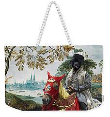Newfoundland Art - Pasague With Duke Weekender Tote Bag