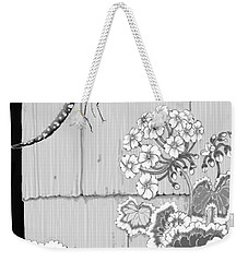 Weekender Tote Bag featuring the digital art Newly Emerged by Carol Jacobs