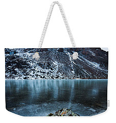 Frozen Mountain Lake Weekender Tote Bag