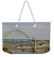 Weekender Tote Bag featuring the photograph Newport Bay Bridge by Susan Garren