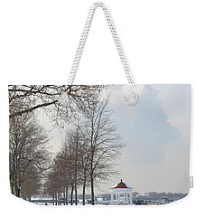 Weekender Tote Bag featuring the photograph Newport Waterfront by Angela DeFrias