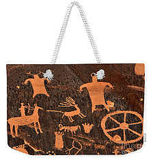 Newspaper Rock Close-up Weekender Tote Bag