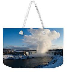 Niagara Falls Makes Its Own Weather Weekender Tote Bag