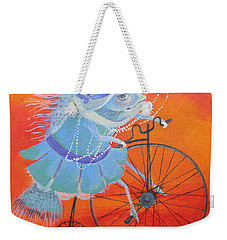 Weekender Tote Bag featuring the painting Niece Sonia by Marina Gnetetsky