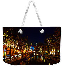 Nieuwe Spieglestraat At Night Weekender Tote Bag