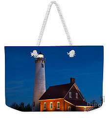 Night At The Lighthouse Weekender Tote Bag