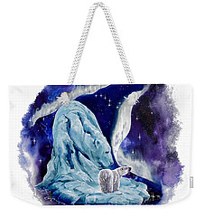 Weekender Tote Bag featuring the painting Night Bear by Sherry Shipley