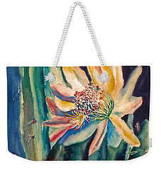 Night Blooming Cactus Weekender Tote Bag