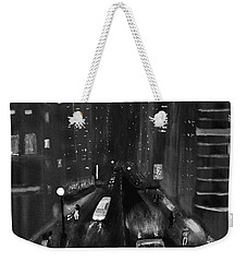 Night City Scape Weekender Tote Bag by Dick Bourgault