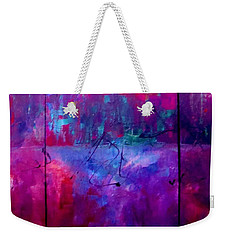 Weekender Tote Bag featuring the painting Night Falls Upon by Lisa Kaiser