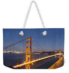 Night Image Golden Gate Bridge Weekender Tote Bag by James Hammond