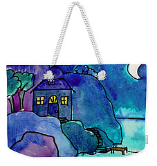 Night Harbor Weekender Tote Bag
