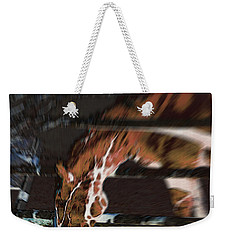 Weekender Tote Bag featuring the digital art Night-mare by Stuart Turnbull