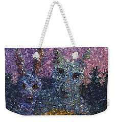 Weekender Tote Bag featuring the painting Night Offering by James W Johnson