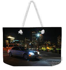 Night Out In Boston Weekender Tote Bag