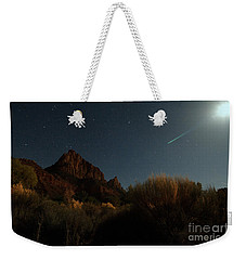 Night Sky Over Zion Weekender Tote Bag