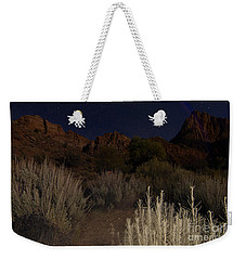 Night Sky Over Zion II Weekender Tote Bag