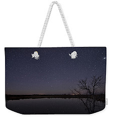 Night Sky Reflection Weekender Tote Bag