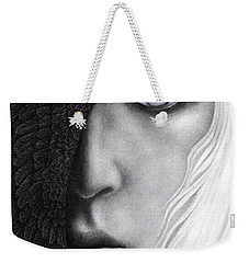 Weekender Tote Bag featuring the painting Night Vision by Pat Erickson